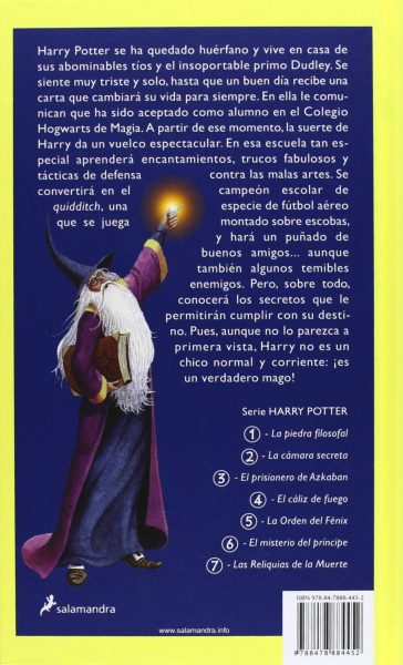 Sinopsis Harry Potter y la piedra filosofal